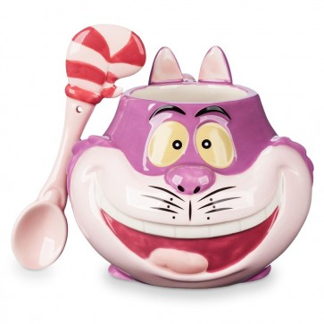 Cheshire Cat Mug Spoon Set Ceramic