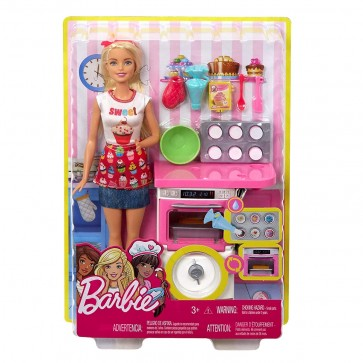Barbie doll Baking Playset