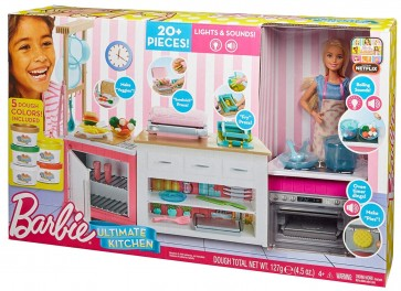 barbie ultimate kitchen toy set