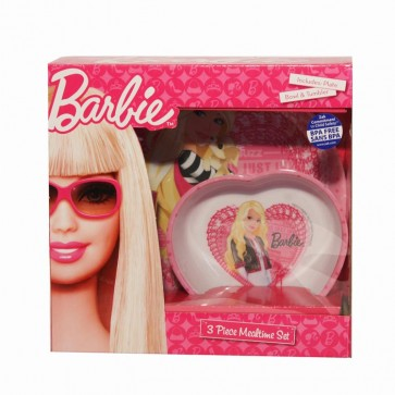 Barbie Feeding Set Plate Bowl Cup