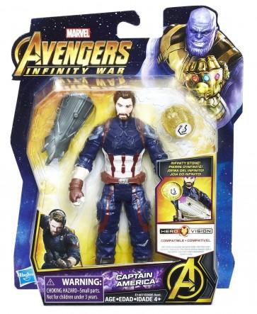 Marvel Avengers Infinity War Captain America Figure stone