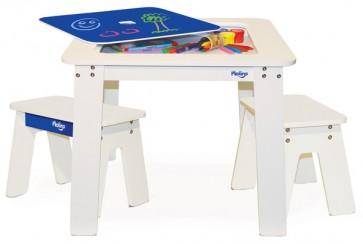 p'kolino chalk table benches