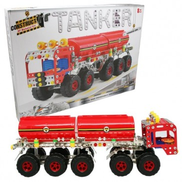 Construct Tanker Toy metal kit