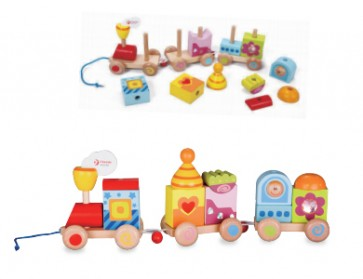 Pull Train Wooden Toy set by Classic World