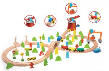 Train Set 75 pieces Classic World