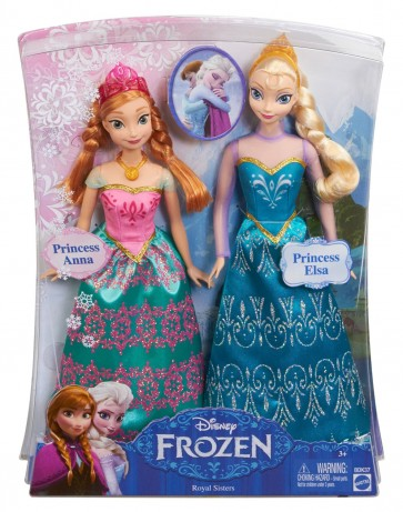Disney Frozen Queen Elsa Princess Anna of Arendelle Doll Set