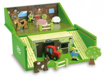 animal Farm Set in Suitcase by Vilac