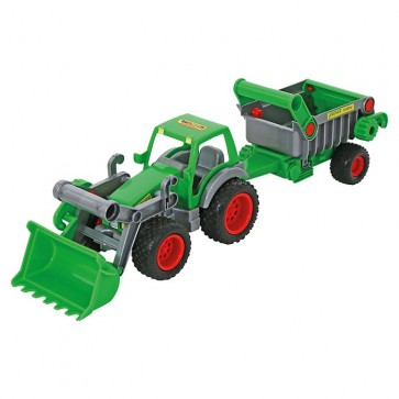 Farmer Technic Tractor With Frontloader Trailer Toy