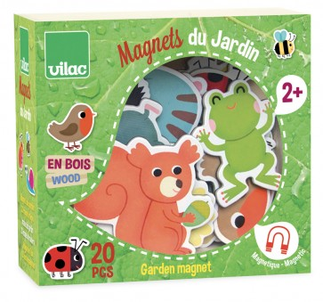 wooden animal magnet toy