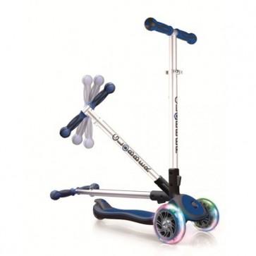 Globber 3 Wheel My Free Fold UP LED Front Flash Wheels - BLUE