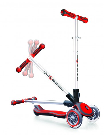 globber three heel scooter red fold up
