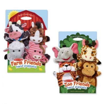 Melissa & Doug Hand Animal Puppets zoo farm