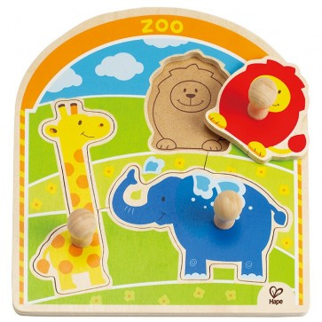 Hape Zoo Animal Knob Puzzle Toy