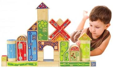 Hape Organeco Blocks Toy