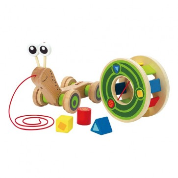 Hape Snail Learning Shape Sorter Wooden Toy