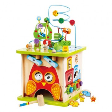 Hape activity cube toy wood