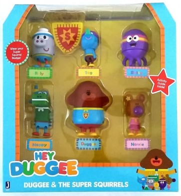 Hey Duggee super Squirrels figurines set