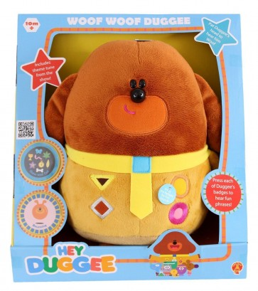 hey duggee woof woof soft toy plush sound