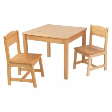 KidKraft Aspen kids Table Chair Set in Natural