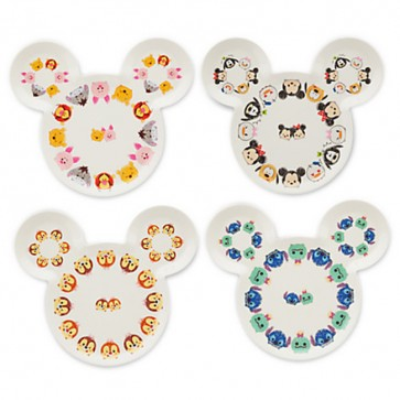 disney Mickey Mouse Tsum Tsum Plate Set