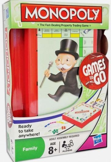 Monopoly Games On the Go Board Game