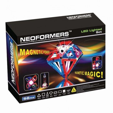Neoformers LED Set 56 Pieces magnetic toy
