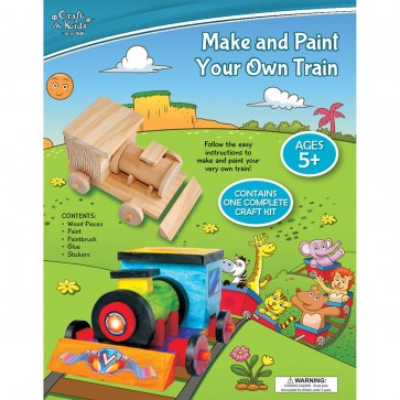 Build and decorate your own wooden train