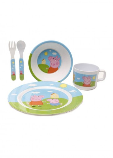 peppa pig plate cup spoon