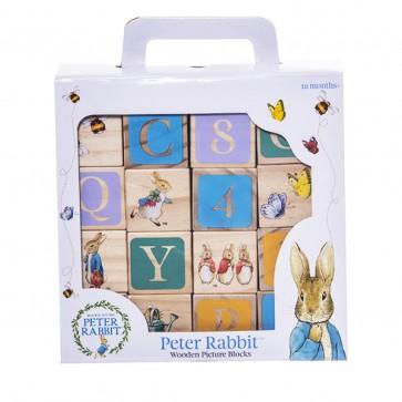 wooden block peter rabbit