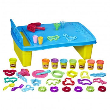 Play-Dough Play and Store Table with 6 Tubs