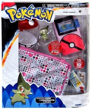 Tomy Pokemon Pokedex Trainer Kit with Axew Figure Girl