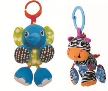 Rattling Jittery Pal Elephant Zebra Baby Pram toy