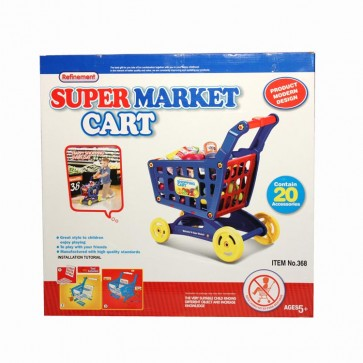 Supermarket Shopping Cart Trolley Blue