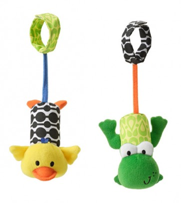 Tag Along Chimes - Frog & Duck baby toy