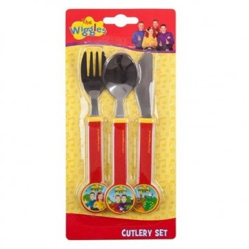 THE WIGGLES CUTLERY SET spoon fork knife