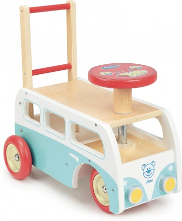 Retro Wooden Toy Combi Pusher & Ride On