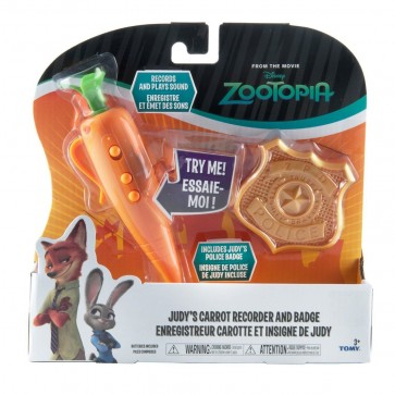 officer judy carrot recorder toy and badge