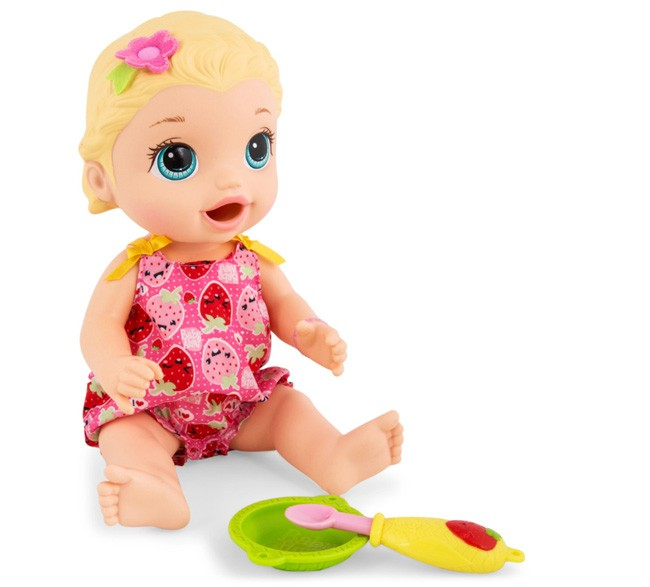 Baby Alive Super Snacks Snacking Lily Doll White Blonde