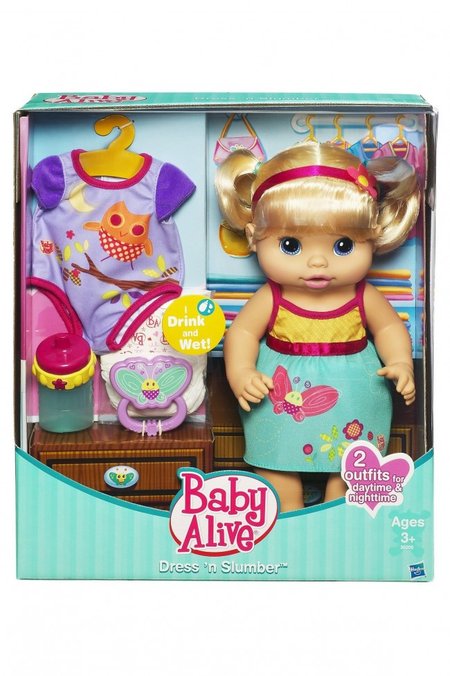 baby alive dress  u0026 39 n slumber drink  u0026 wet doll
