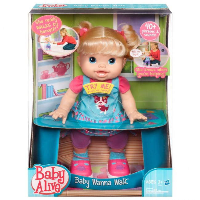 Baby Alive Baby Wanna Walk Doll Toys City Australia