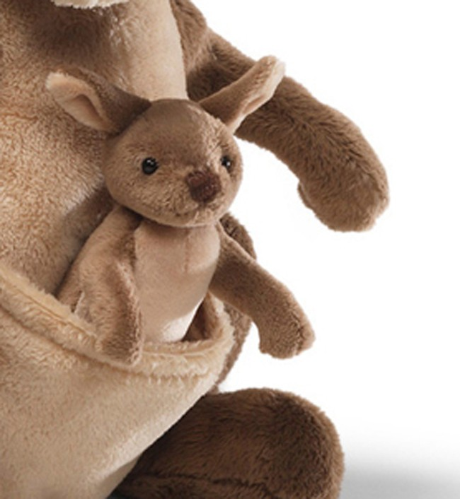 Jirra Kangaroo With Baby Joey Plush 25cm