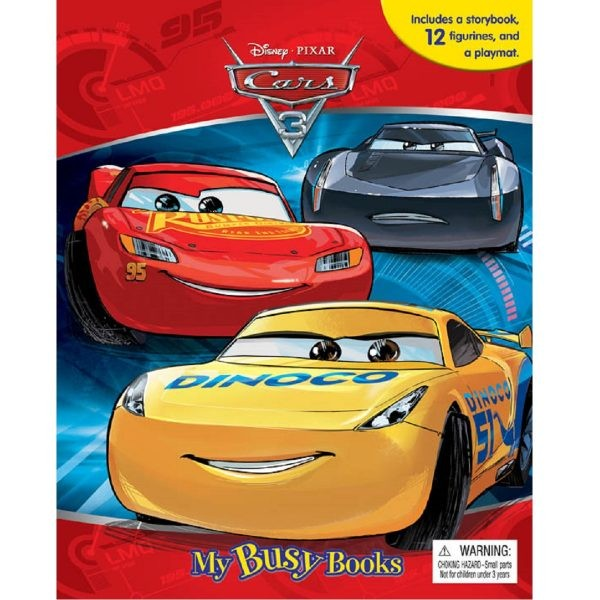 Disney Cars 3 My Busy Books Story Book Figurines And
