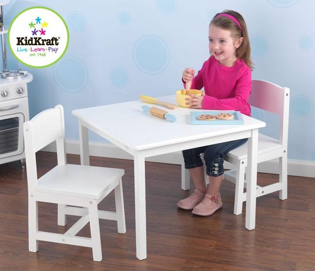 KidKraft Aspen Table and 2 Chair Set in White - Children Study ...