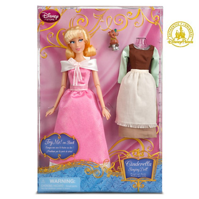 Disney Princess Cinderella Singing Doll And Costume Set