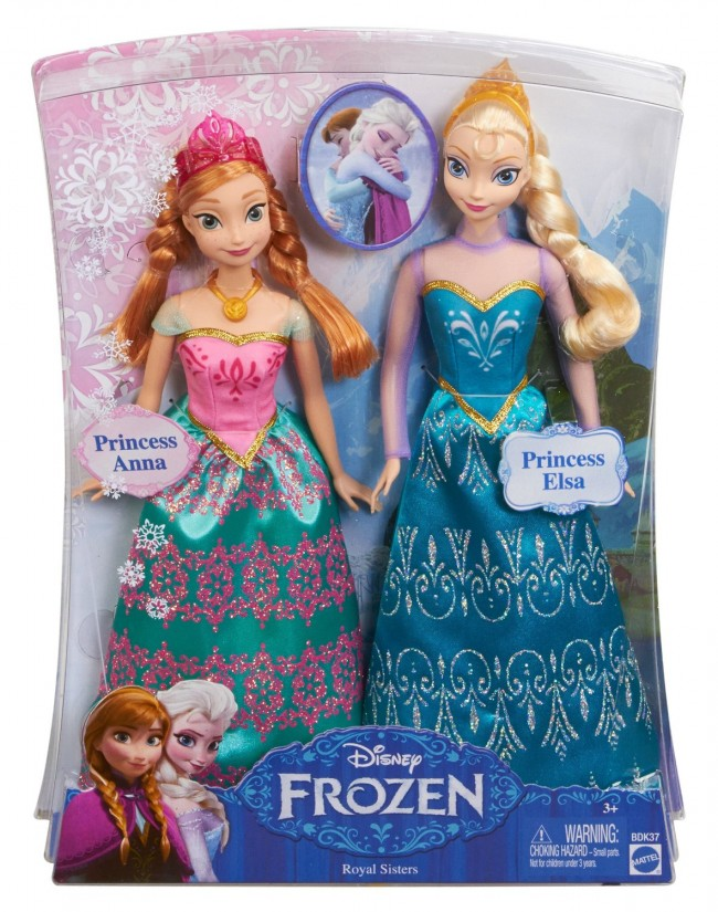 Disney Frozen Queen Elsa Princess Anna Of Arendelle Doll Set