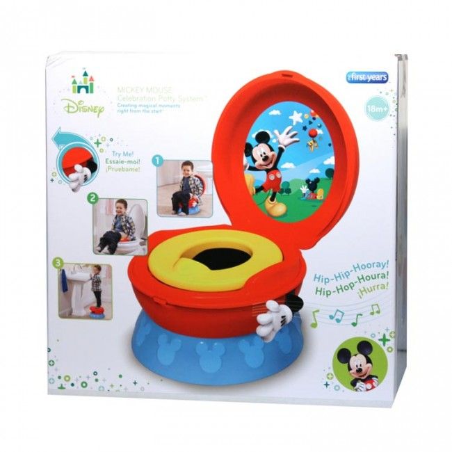 Disney Mickey Mouse Potty Trainer 3 In 1 Toilet Training Potty