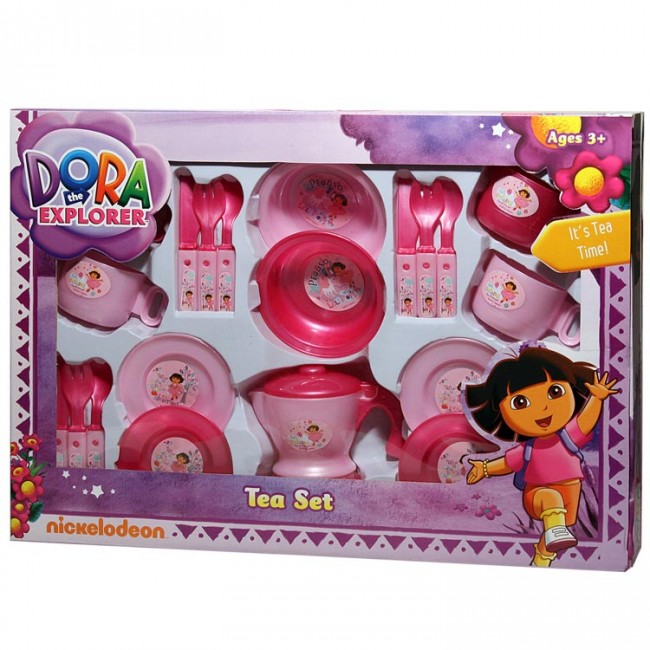 Nickelodeon Dora The Explorer Tea Set Kids Pretend Kitchen