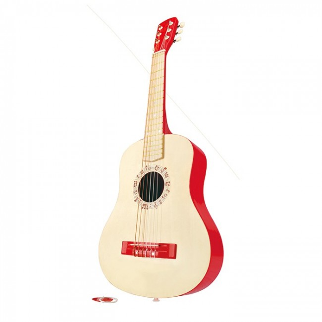 Hape Guitar Red Wooden Musical Toys
