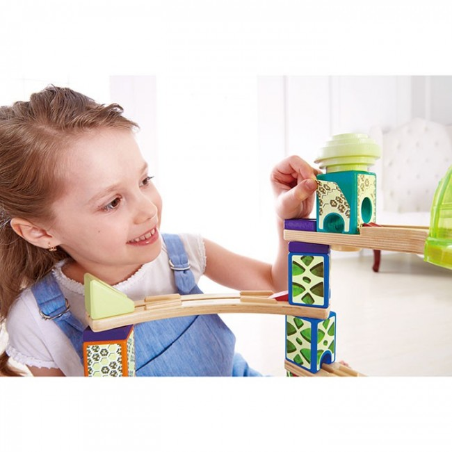 Hape Quadrilla 174 Space City Wooden Toy Marble Run