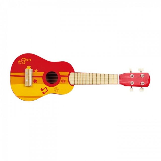 Hape Ukelele Red Wooden Musical Toys